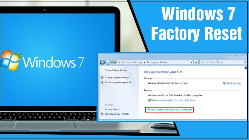 windows 7 factory reset