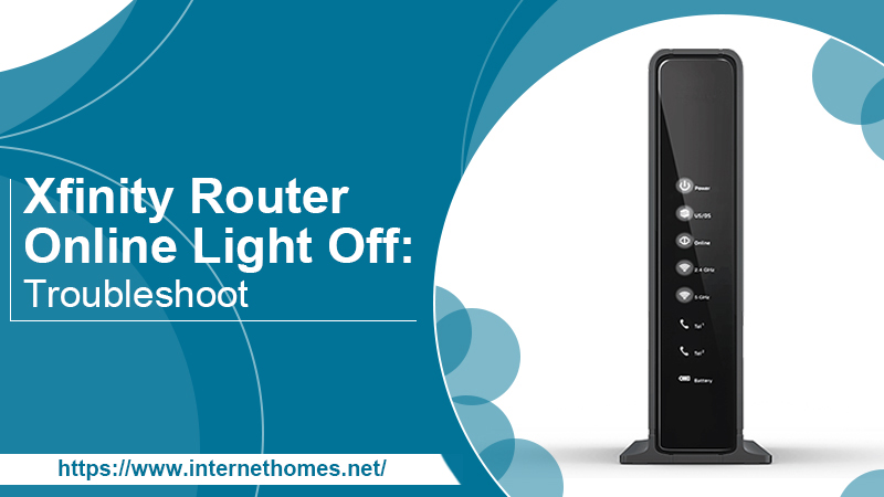 xfinity router online light off